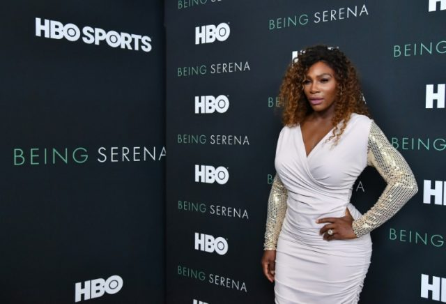 Serena Williams attends the HBO New York Premiere of 'Being Serena' at Time Warner Center on April 25, 2018 in New York City