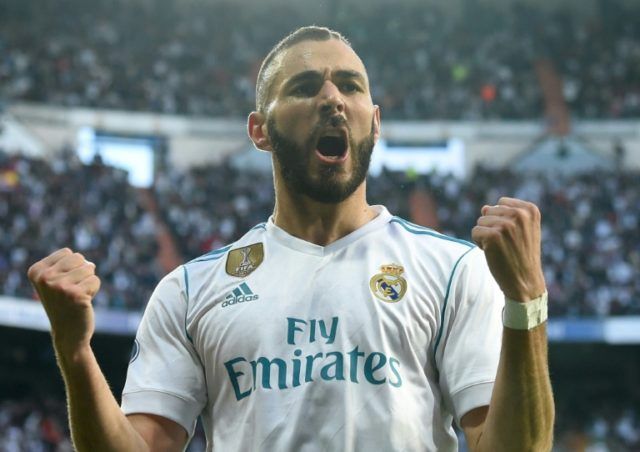 Karim Benzema scored twice to send Real Madrid into their third consecutive Champions League final