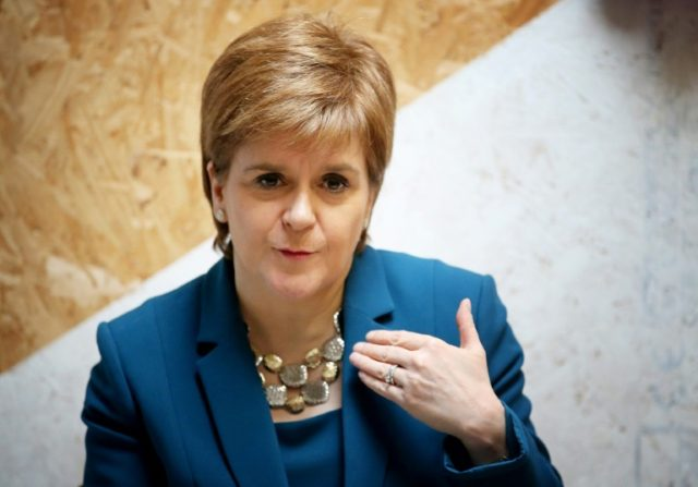 "Sturgeon said Scotland ""is the first country in the world being bold enough and brave enough to introduce minimum unit pricing"""