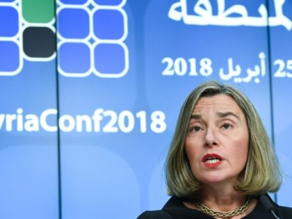 """EU diplomatic chief Federica Mogherini emphasised that Iran had """"fully complied with its commitments,"""" according to 10 IAEA reports"""
