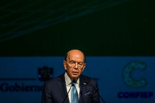 Secretary of Commerce Wilbur Ross, pictured on April 12, 2018, said since the US has a trade deficit with Europe, any retaliation would raise costs in the member nations