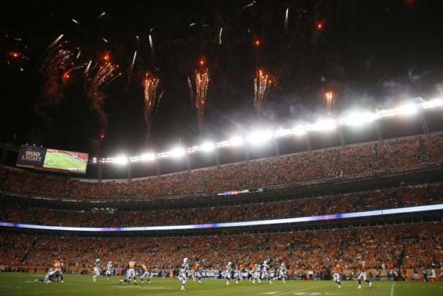 The Denver Broncos and the Los Angeles Chargers kickoff at Sports Authority Field at Mile High on September 11, 2017 in Denver, Colorado