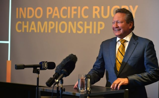 Innovative rules: Australian mining magnate Andrew Forrest's new rugby competition
