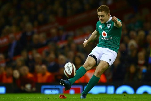 Paddy Jackson in action for Ireland against Wales in their 2017 Six Nations clash