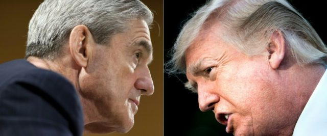 Special Counsel Robert Mueller (L) is probing possible obstruction of justice as well as collusion in Russia's meddling in the US elections
