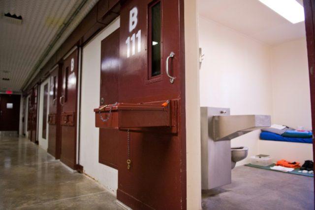 A 2014 photo of a cell at Guantanamo Bay