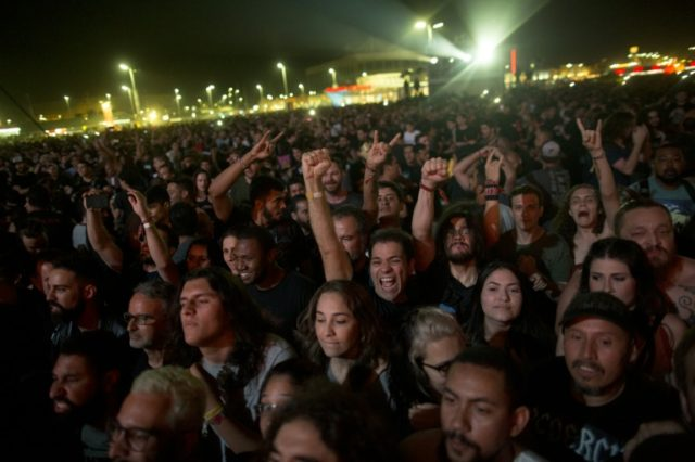 Music festivals have become a rite of passage for many young people, such as these fans at the Rock in Rio performance by Brazilian band Sepultra in September 2017