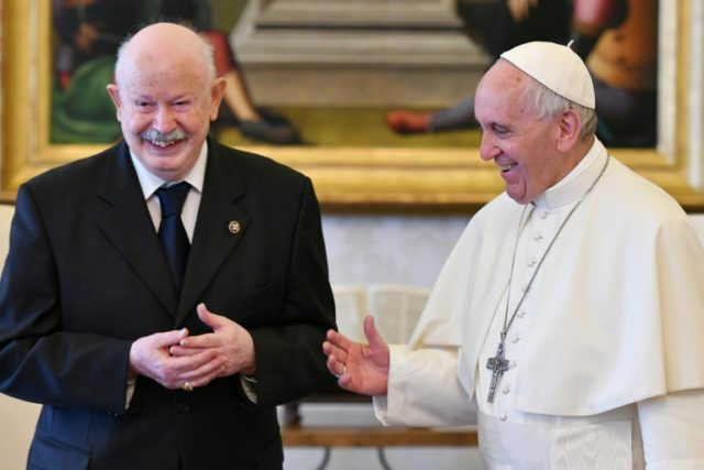 Grand Master of the Sovereign Military Order of Malta, Giacomo Dalla Torre del Tempio di Sanguinetto who was elected to the post for life Wednesday in a meeting with Pope Francis who forced his predecessor to resign after an internal power struggle