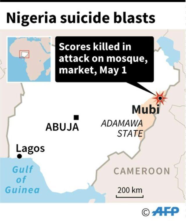 Map locating attack in Mubi, Nigeria