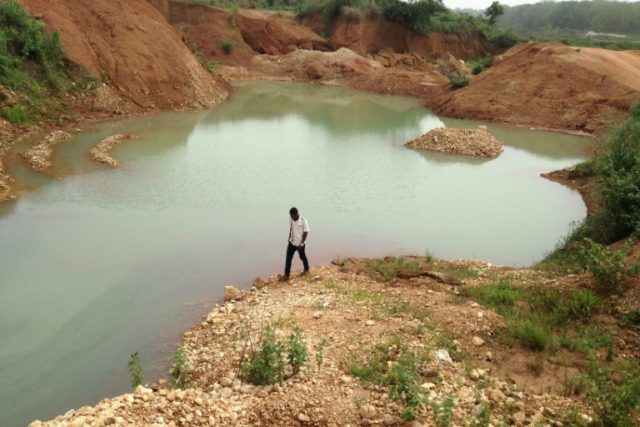 When mining companies have extracted all the minerals they can from one site, they abandon it and move to another
