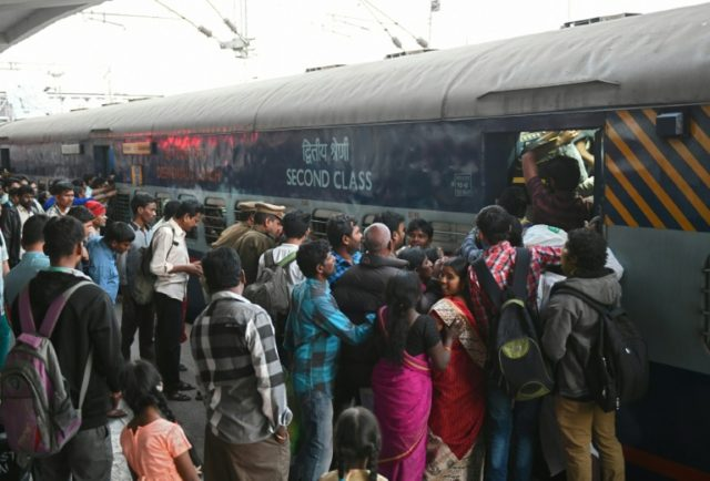 The Indian railway is the world's fourth largest network and carries about 23 million people every day