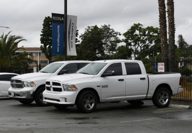 Police believe the thieves snuck onto an assembly plant storage lot around 4 a.m. and broke into the expensive Dodge Ram trucks, examples of which are seen here, which retail for anywhere from $27,000 to $53,000