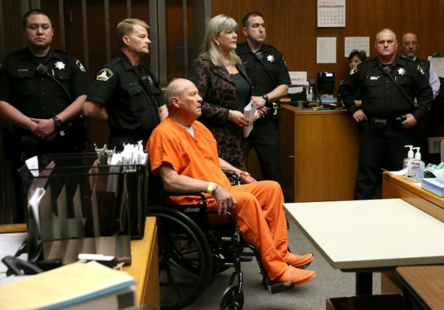 "Joseph James DeAngelo, the suspected ""Golden State Killer"", appears in court"