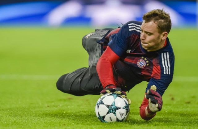 Manuel Neuer has been sidelined since mid-September with a foot injury