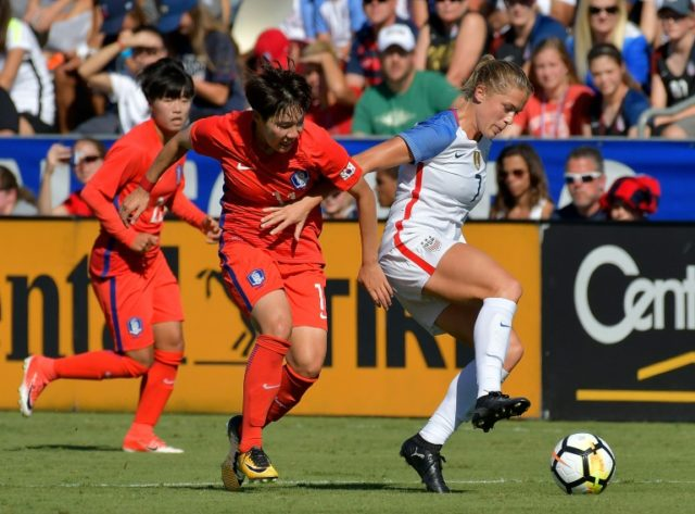 Abby Dahlkemper (R) has played 18 matches for the United States and plays for the league-leading North Carolina Courage of the National Women's Soccer League