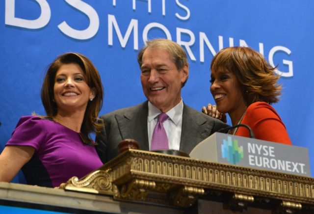 "Charlie Rose (center), shown here in 2013 with former ""CBS This Morning"" co-hosts Norah O'Donnell (left) and Gayle King, was sacked by the network in November 2017 shortly after eight women leveled sexual harassment accusations against him"