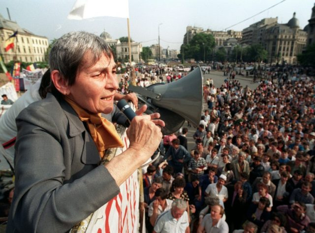 Doina Cornea became famous between 1982 and 1989 for around 30 letters she wrote to Radio Free Europe in which she denounced the excesses of Ceausescu's totalitarian regime