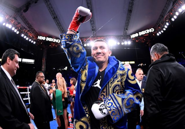 Gennady Golovkin ended the fight with a vicious series of right and left combinations that floored the heavy underdog Vanes Martirosyan
