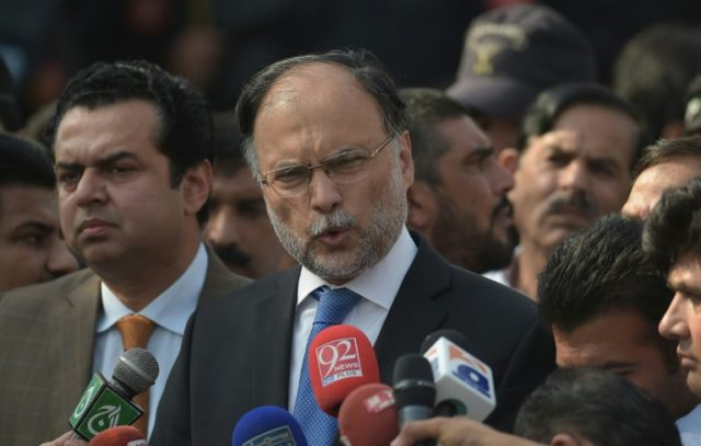 Pakistani Interior Minister Ahsan Iqbal had been attending the meeting in his constituency in Punjab's Narowal district when he was shot in the right arm