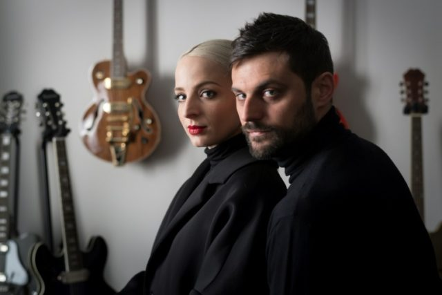"""French pop duo and husband and wife team """"Madame Monsieur"""" Emilie Satt and Jean-Karl Lucas who will represent France at next week's Eurovision song contest in Lisbon"""