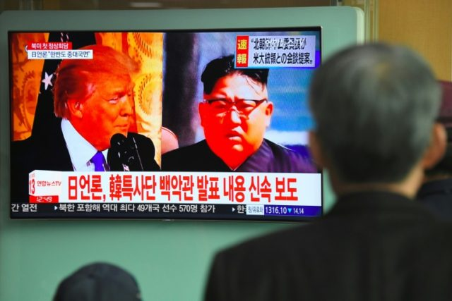 Trump said on the weekend that Washington and Pyongyang had settled on a date and a location for the summit