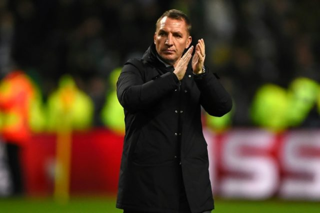 Celtic's manager Brendan Rodgers, pictured in 2017, said the length of the grass conspired to prevent both sides from playing a passing game