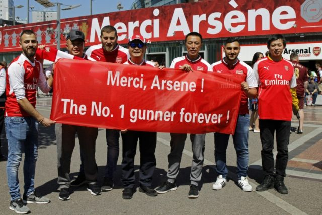 Arsenal fans pay tribute to Arsene Wenger ahead of his final home game as manager after 22 years in charge