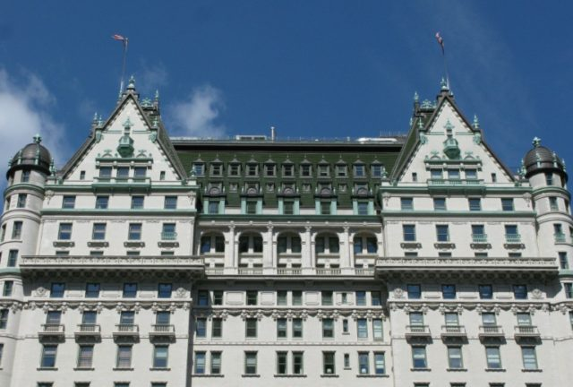 A view of the Plaza Hotel in Midtown Manhattan