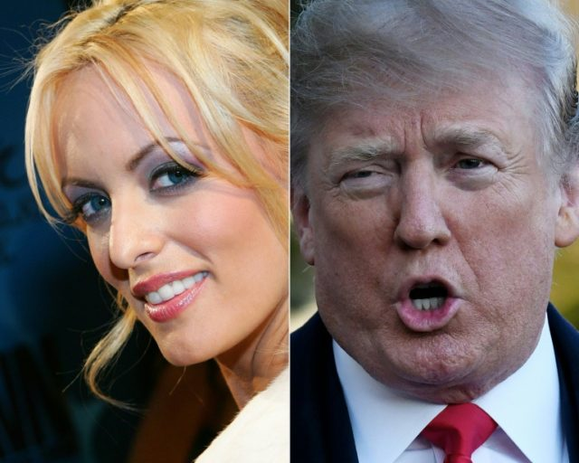 Porn actress Stormy Daniels and her lawyer are taking aim at President Donald Trump in a media offensive