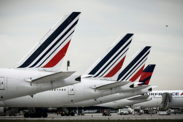 Tailspin: Air France share prices have plummeted this week