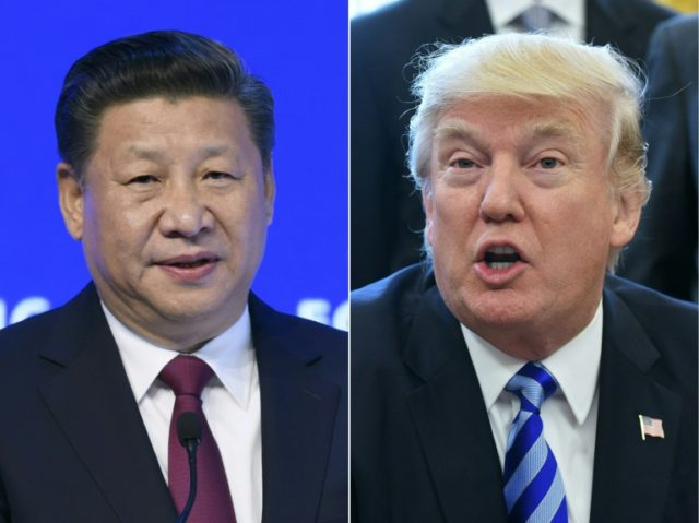 China's President Xi Jinping (L) told US President Donald Trump that he supports the planned meeting between the US and North Korean leaders, according to Chinese state broadcaster CCTV