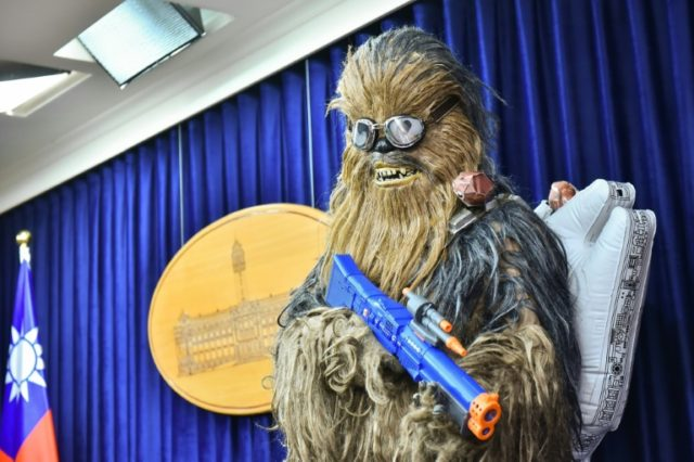 "The island's Vice President Chen Chien-jen and fans dressed as a motley crew of intergalactic characters chanted ""May the force be with you"" in homage to the George Lucas space drama as part of events held around the world on May the fourth"