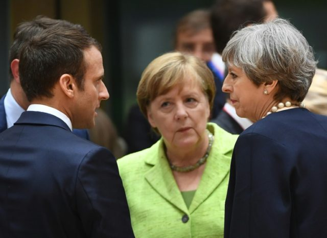 The leaders of France, Germany and Britain -- all signatories to the Iran nuclear deal -- said they will work on keeping the accord in place