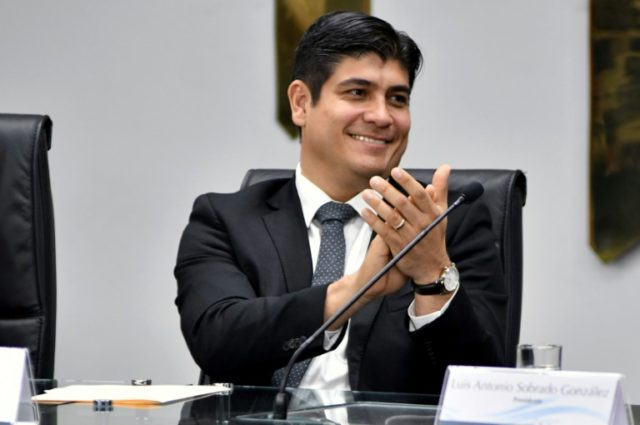 Carlos Alvarado, a journalist and former labor minister, is being sworn in as Costa Rica's president