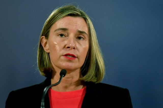 The EU's foreign policy chief Federica Mogherini is due to give the bloc's reaction shortly after President Donald Trump speaks