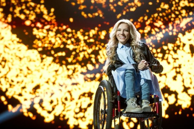 For this year's contest Russia once again picked Yuliya Samoilova -- who performed at the opening ceremony to the 2014 Sochi Winter Paralympics -- to represent the country.