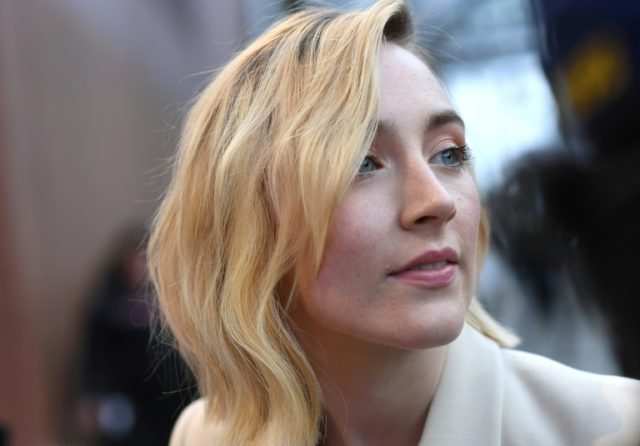 Saoirse Ronan, pictured in April 2018, is among the Irish actors urging voters to legalise abortion