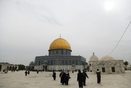 Jerusalem's al-Aqsa mosque compound, known to Jews as the Temple Mount and seen here on December 29, 2017, is at the heart of the Israeli-Palestinian conflict