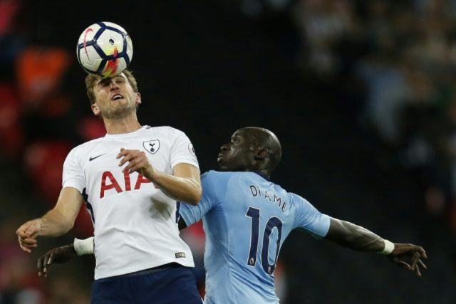 Kane on target: Tottenham Hotspur's Harry Kane vies with Newcastle United midfielder Mohamed Diame