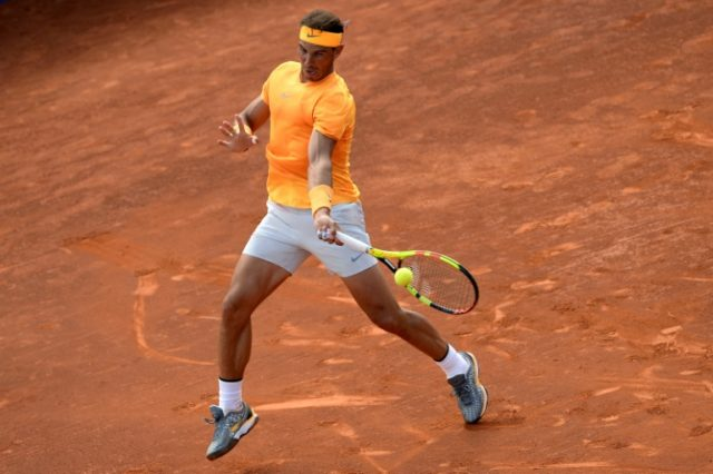 Unstoppable: Rafael Nadal downed Gael Monfils on Wednesday