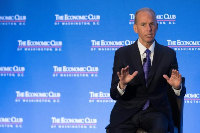 Boeing CEO Dennis Muilenberg emphasized the importance of free trade for his company at an event hosted by the Economic Club of Washington in the US capital