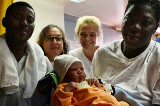 Around 35 babies have been born on migrant rescue ships in the Mediterranean in recent years