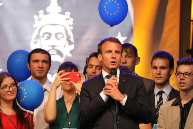 French President Emmanuel Macron stressed the importance of the EU speaking with one voice