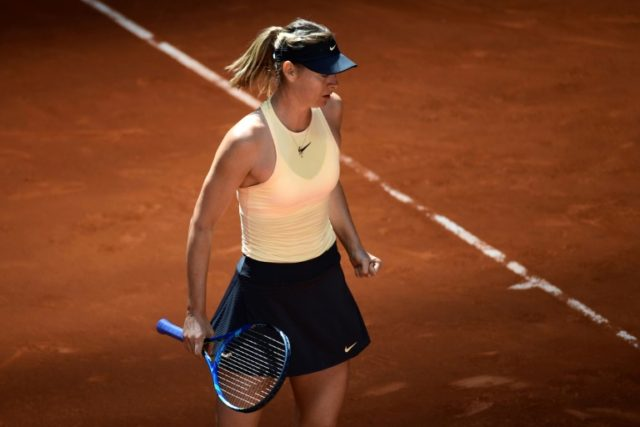 Defeated: Maria Sharapova was knocked out by Kiki Bertens in the Madrid Open quarter-finals