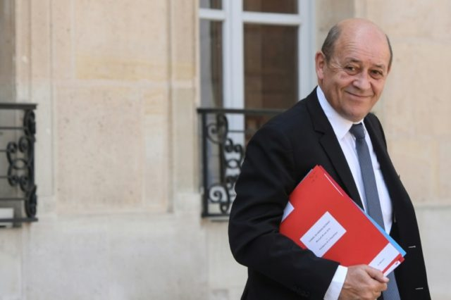 """France's top diplomat Jean-Yves Le Drian called Washington's reimposition of sanctions on Iran """"unacceptable"""""""