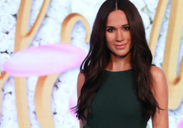 A wax figure of Meghan Markle, the US fiancee of Britain's Prince Harry, at Madame Tussauds in central London