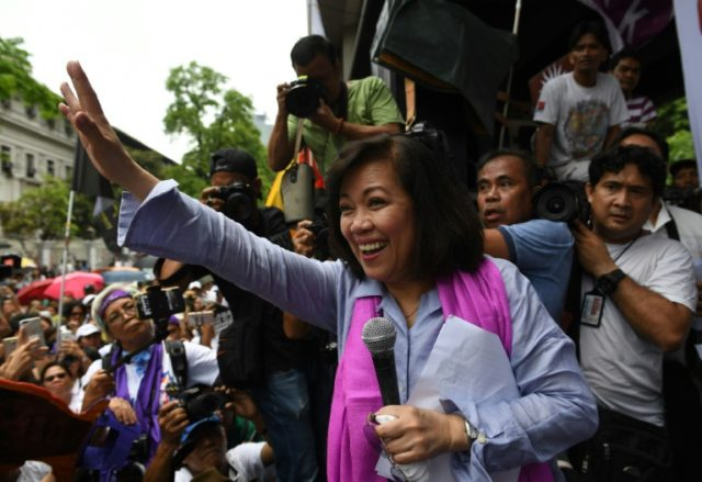 Ousted Supreme Court Chief Justice Maria Lourdes Sereno is one of several high-profile Philippine critics who have found themselves targeted