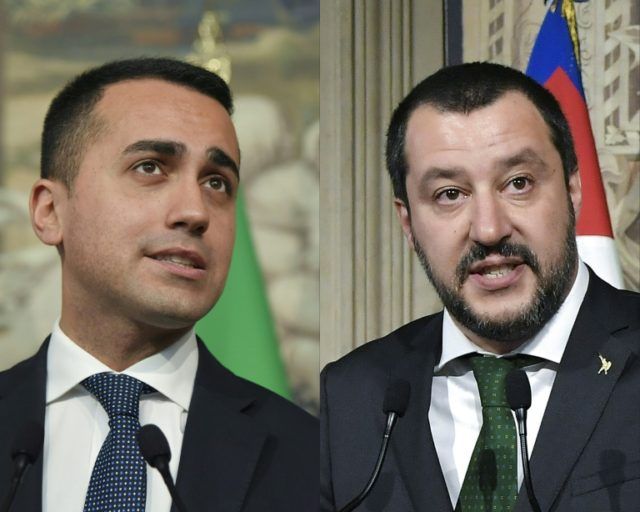 Luigi Di Maio (left) and Matteo Salvini are also willing to make compromises over their flagship policies