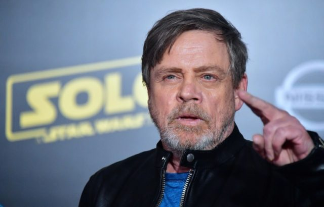 Actor Mark Hamill arrives for the premiere of 'Solo: A Star Wars Story' in Hollywood, California on May 10