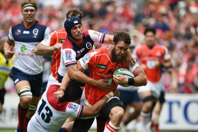 The Sunwolves mauled the Reds 63-28 Saturday on their home turf